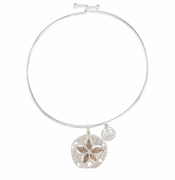 Sand Dollar Sterling Bangle