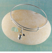 Sand Pail Seaglass Bangle Bracelet