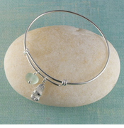 Sandal Seaglass Bangle Bracelet