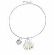 Scallop Shell Beach Bangle