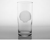 Seashell Cooler  Glasses<br>Set of 4