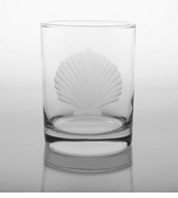 Seashell Double Old Fashion Glasses<br>Set of 4