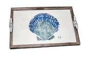 Scallop Shell Driftwood Tray