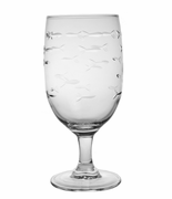 School of Fish Footed Iced Tea Glasses