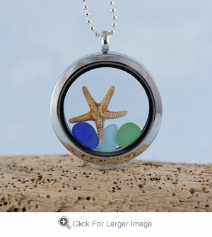 Sea Glass Locket - Click to enlarge