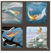 Mermaids Seatails Coasters