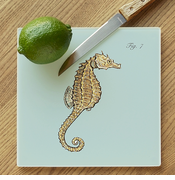 Seahorse Glass Cutting Board