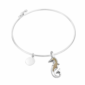 Seahorse Sterling Bangle - Click to enlarge