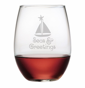 Seas & Greetings Stemless Wine