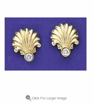 Shell & Diamond Earrings - Click to enlarge
