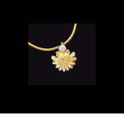 Shell & Diamond Pendant