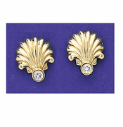 Shell & Diamond Earrings