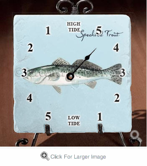 Speckled Trout Tide Clock - Click to enlarge