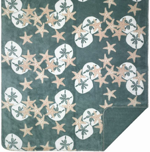 Starfish & Sand Dollars Microplush Throw - Click to enlarge