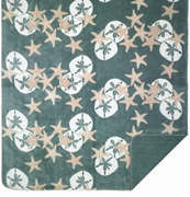 Starfish & Sand Dollars Microplush Throw