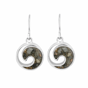 Sterling Wave Earrings - Click to enlarge