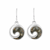 Sterling Wave Earrings