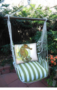 Summer Palm Seahorse Swing Set