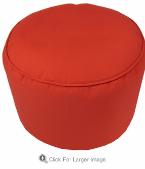 Sunbrella Red Pouf - Click to enlarge