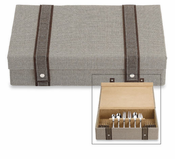 Taupe Woven Flatware Chest