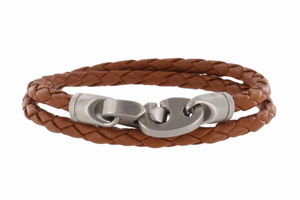The Catch Leather Double Wrap Rope Bracelet - Click to enlarge