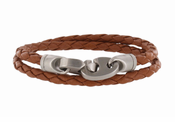 The Catch Leather Double Wrap Rope Bracelet