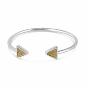 Triangle Sterling Cuff Bracelet