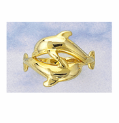 Twin Dolphin Ring