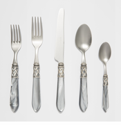 Vietri Aladdin Light Gray Flatware