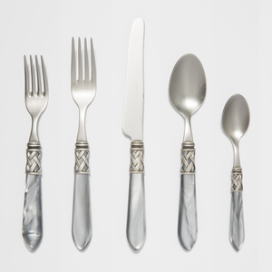 Vietri Aladdin Light Gray Flatware - Click to enlarge