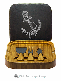 Vintage Anchor Square Cheese Set with Tools - Click to enlarge