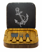 Vintage Anchor Square Cheese Set with Tools
