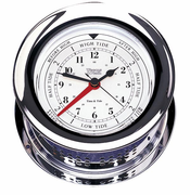 Atlantis Chrome Time & Tide Clock