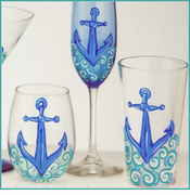 Whimsy Inspired Anchor Glassware