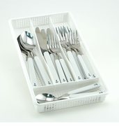White Anchor Flatware Set