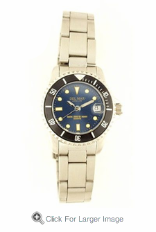 Women's Classic Blue Dial Stainless Steel Watch - Click to enlarge