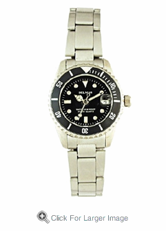 Women's Stainless Steel Classic Dive Watch - Click to enlarge