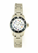 Women's Stainless Steel Classic Nautical Flag Watch