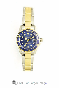 Women's Two Tone Blue Dial Sport Watch - Click to enlarge