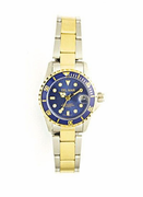 Women's Two Tone Blue Dial Sport Watch