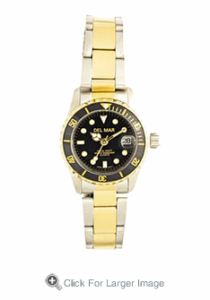 Women's Two Tone Sport Dive Watch - Click to enlarge