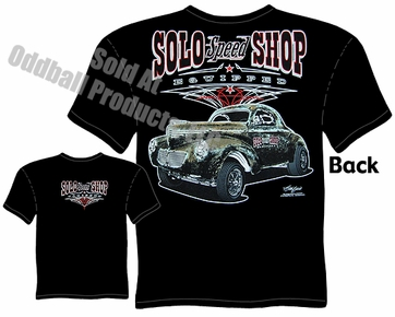 1940 Willys T Shirts 40 Gasser Tee Solo Speed Shop Clothing