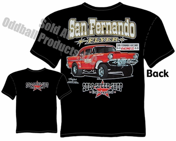 57 Chevrolet T Shirt 1957 Chevy Gasser Solo Speed Shop Tee