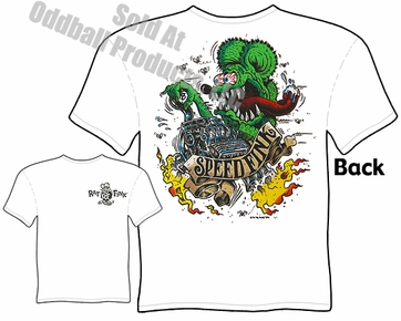 Rat Fink T Shirt SpeedFink Big Daddy Apparel Ed Roth Tee