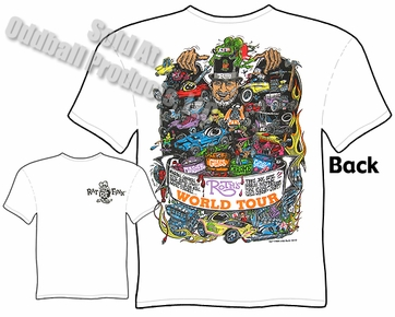 Ratfink T Shirts Big Daddy Apparel Ed Roth World Tour T Shirt