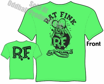 Rat Fink T Shirt Black & Green Big Daddy Clothing Company Tee