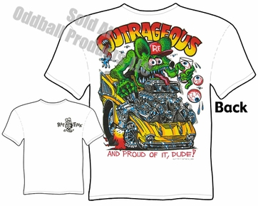 Rat Fink T Shirt Outrageous Big Daddy Clothing Ed Roth Tee 57 Chevy