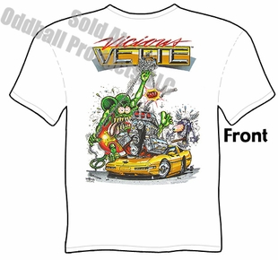Rat Fink T Shirt Vicious Vette Big Daddy Clothing Ed Roth Tee