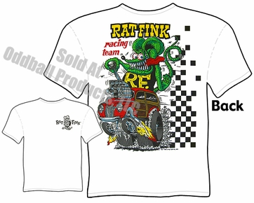 Rat Fink T Shirt Racing Team Big Daddy Shirt 40 Ford Woody Wagon