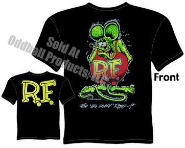 Rat Fink Black T Shirt Signature 3D Big Daddy Apparel Ed Roth Tee